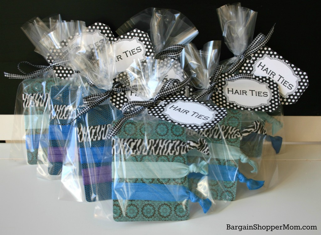 BargainShopperMom Hair Tie Party Favors DIY Tutorial