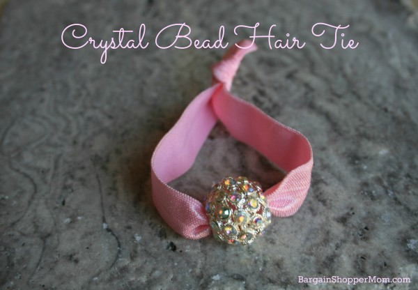 BargainShopperMom Hair Tie Tutorial Crystal Bead