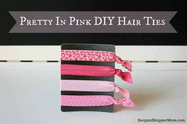 BargainShopperMom Pretty in Pink DIY Hair Ties Tutorial