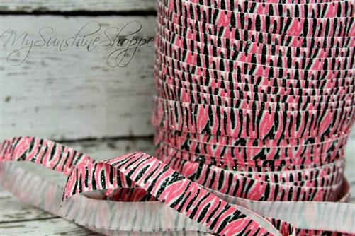 Glitter Pink Zebra