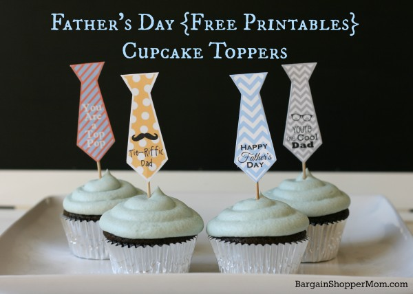 Father's Day Cupcake Toppers of neckties