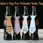 Homemade Father's Day Gift -Free Printables Necktie for bottles or cupcakes