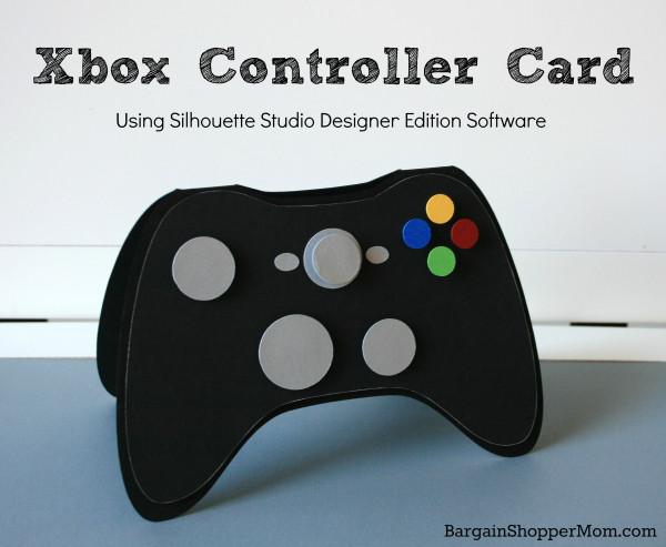 Video Game Xbox Card Silhouette SVG BargainShopperMom