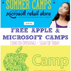 Free Apple Camps & Microsoft Camps