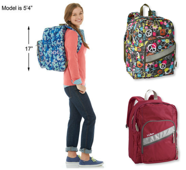 LL Bean Deluxe Backpacks for Teens and Tweens