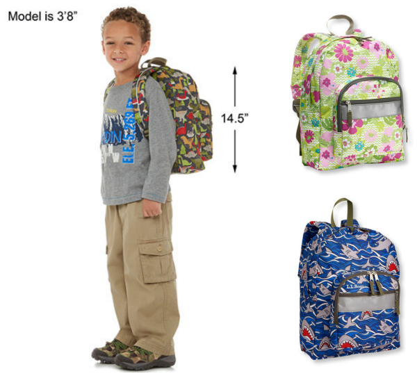 LL Bean Junior Backpacks