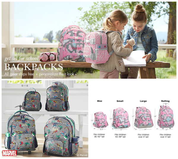 Pottery Barn Kids Backpacks - Many Sizes to Choose from