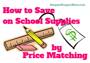 How to save on school supplies by price matching