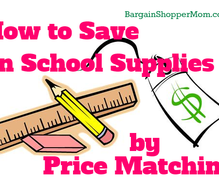 price matching scool supplies policy
