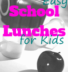 Easy School Lunches for Kids