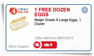 free dozen eggs mejer mperks