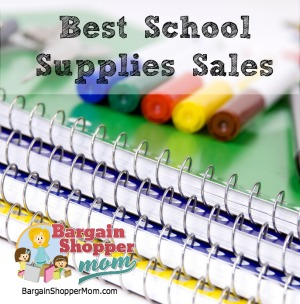 best school supplies sales this week