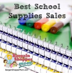 best school supplies sales this week