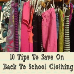 tips to save on back to school clothes