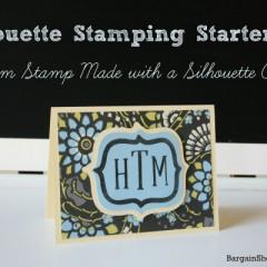 Silhouette Stamping Starter Kit Monogrammed Card BargainShopperMom