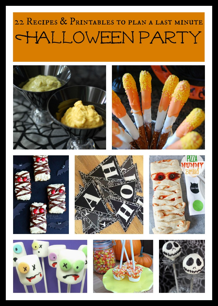 plan a halloween party label