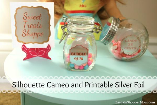 Silhouette Cameo Printable Silver Foil BargainShopperMom
