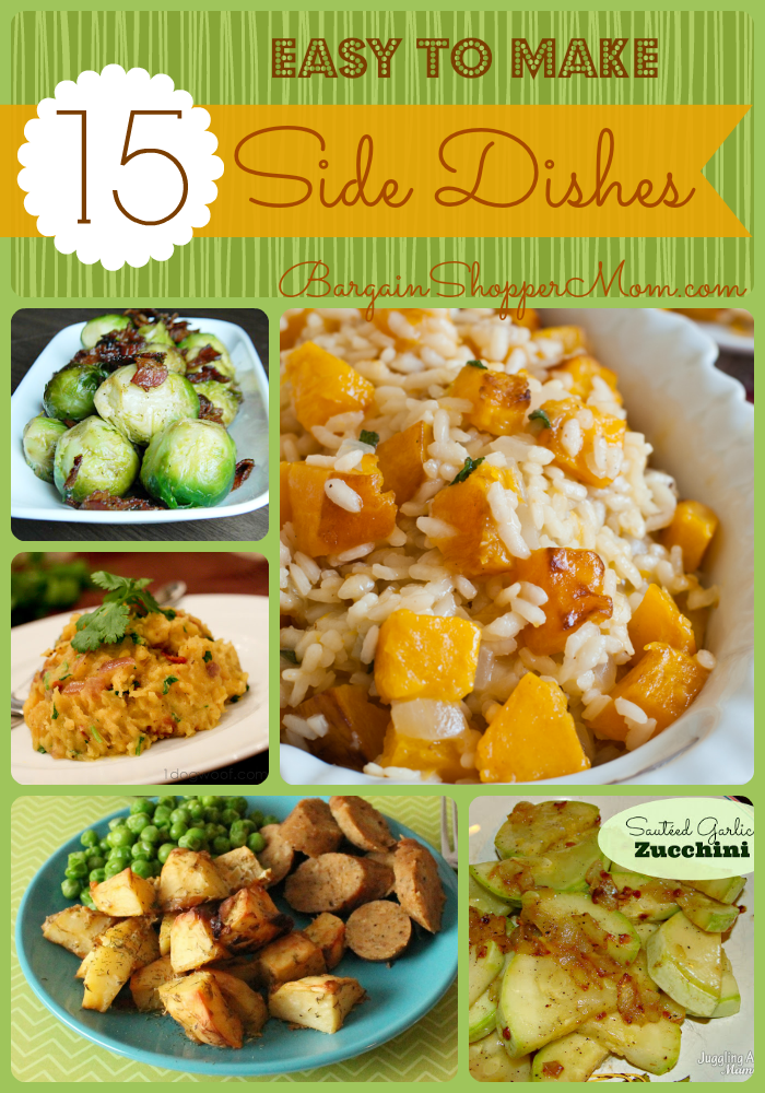 15 easy to make side dishes recipes and instructions