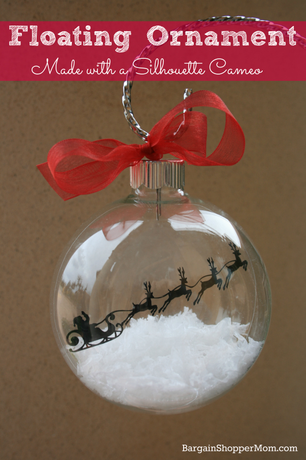 Floating Ornament with Silhouette Cameo