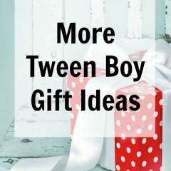 More Tween Boy Gift Ideas
