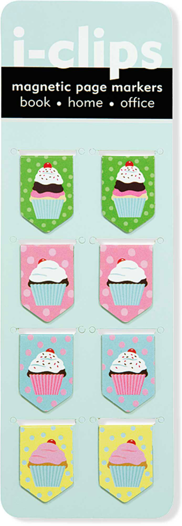 iClips Magnetic Cupcake Bookmarks