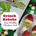 Kids Healthy Christmas Treat Recipe – Grinch Kebobs