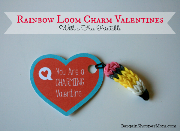 BargainShopperMom Rainbow Loom Valentine Plus a Free Printable