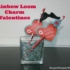 Rainbow Loom Charm Valentines BargainShopperMom