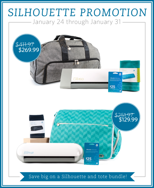 Silhouette January 2014 Promotion with Great Machine Bundles