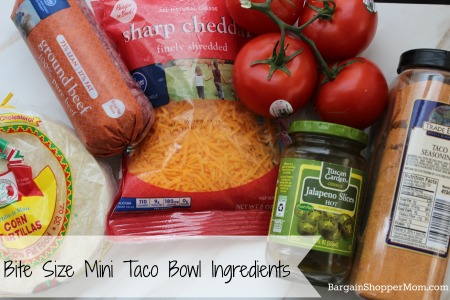 Looking for a bite size fun appetizer or party snack recipe? Then check out this Mini Taco Bowl recipe. They require just a few simple ingredients and you can whip them up in no time at all. These would be great for a Super Bowl party.