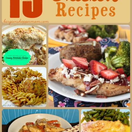 easy chicken recipes list