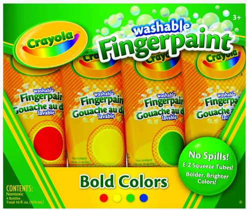 Crayola Washable Finger Paints Primary Colors