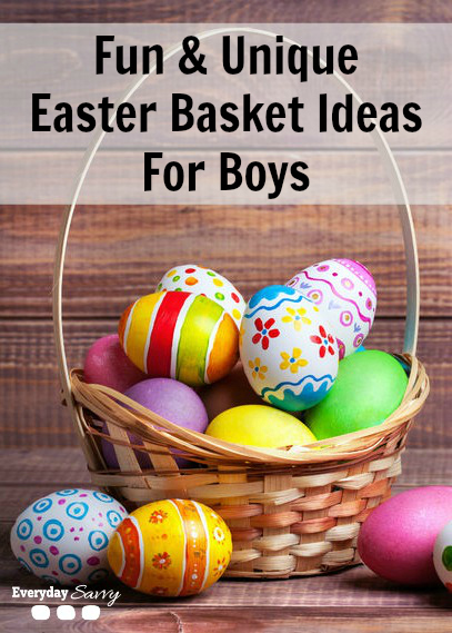 Fun unique ideas for easter baskets for boys everyday savvy easter baskets for boys negle Choice Image