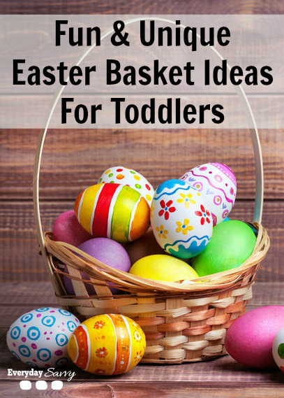 Unique ideas for easter baskets for toddlers everyday savvy fun unique easter basket ideas for toddlers negle Choice Image
