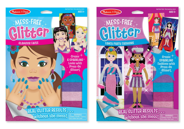 Melissa and Doug Mess Free Glitter Kits Gift Ideas for Girls