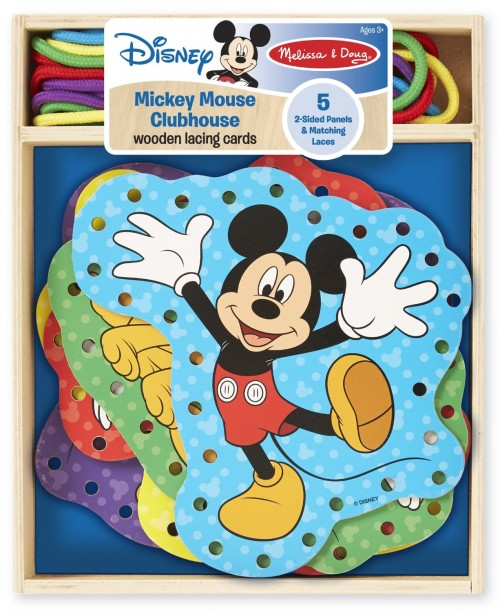 Melissa and Doug Mickey Lacing Cards