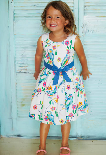 mini boden easter dress flowers
