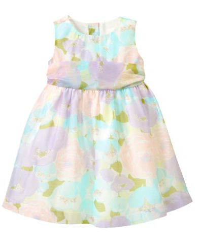 floral organaza baby easter dress