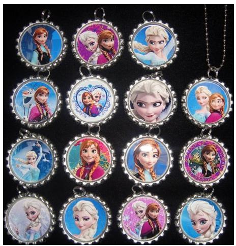 frozen bottle cap necklace