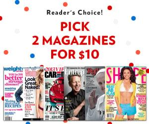 magazine sale 2 for 10