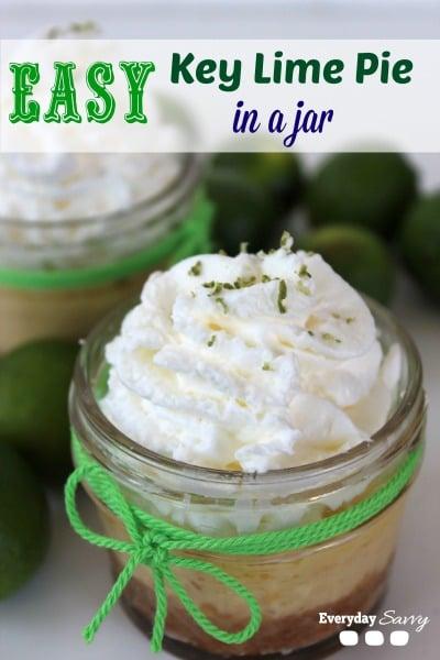 easy key lime pie jar recipe - easy dessert recipe