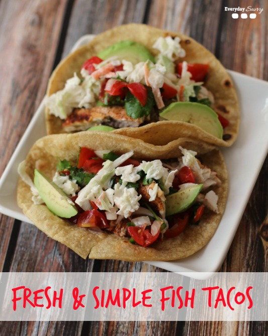 fresh easy fish taco recipe - Made with fresh simple ingredients