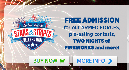 cedar point free for military
