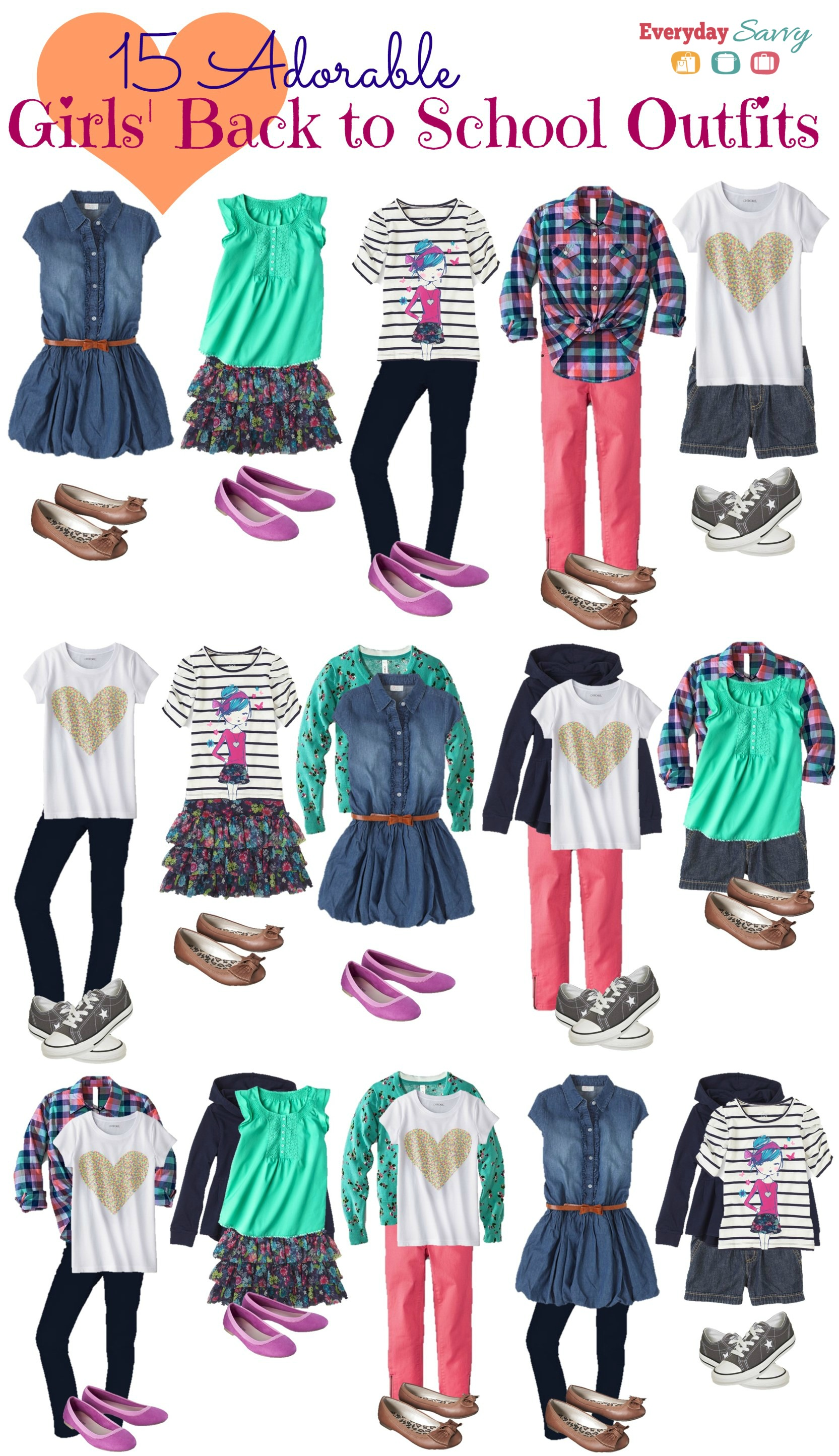 School Clothes For Girls Mix And Match