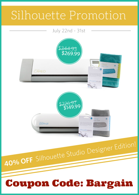 Silhouette July Sale Designer Edition Software and Bundles