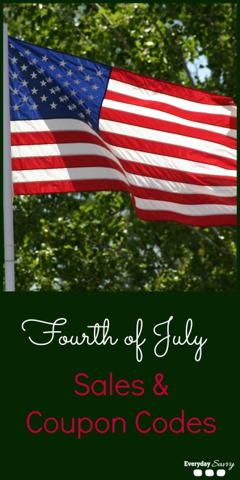 Here is a mega list of Fourth of July sales and 4th if July coupon codes that go along with these sales. There are tons of great sales on clothing & more!