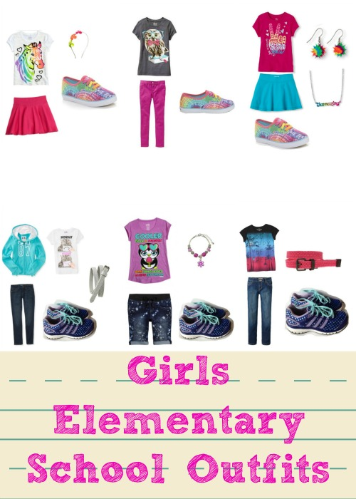 girls elementary school outfits