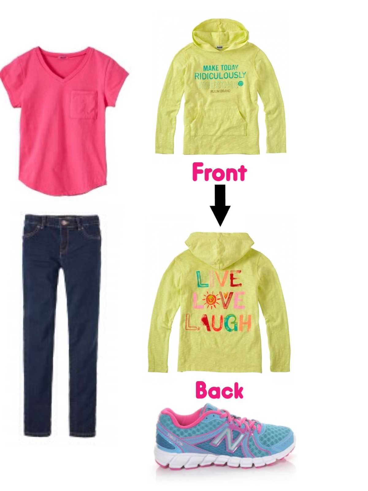 middle school sweatshirt outfit - Middle School And Elementary School Back To School Outfits