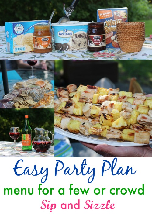 Check out this easy party plan with menu, shopping list and more. Recipe for pineap