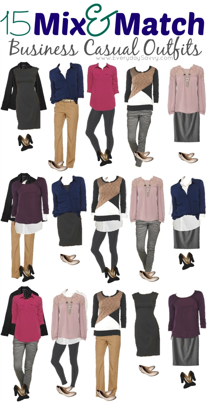 Mix and match clothes for womens fashion
